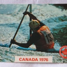 Postales: POSTAL CANADA 1976 KAYAK PLASTICHROME BY COLORPICTURE SELLO 1975 MONTREAL QUEBEC JUEGOS OLIMPICOS. Lote 202438546