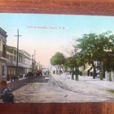 Postales: POSTAL. CALLE DE ATOCHA, PONCE. PUERTO RICO. COLOREADA.. Lote 203253722
