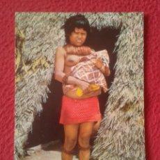 Postales: POST CARD PERÚ SUDAMÉRICA IQUITOS INDIA YAGUA CON SU CRIATURA MOTHER AND CHILD INDÍGENA...VER FOTO/S. Lote 204688172