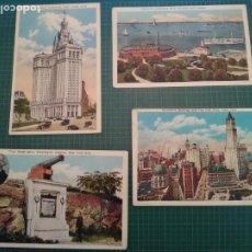 Postales: NEW YORK - 4 POSTALES ANTIGUAS. Lote 204823913