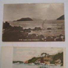 Postales: 2 POSTALES - BRASIL - PRAIA DAS PITANGUEIRAS Y PRAIA S. VICENTE II. Lote 204827683
