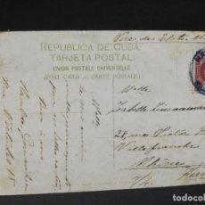 Postales: TARJETA POSTAL. CUBA. CIRCULADA HABANA- FRANCIA. INTERIOR DE LA IGLESIA DEL ANGEL.. Lote 205098243