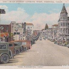Cartes Postales: ESTADOS UNIDOS, CALIFORNIA, VENTURA, THE POINSETTIA CITY - KASHOWER - CIRCULADA. Lote 206883551