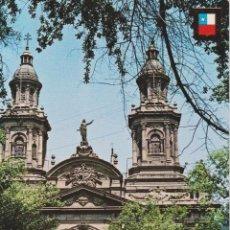 Postales: CHILE, SANTIAGO, IGLESIA LA CATEDRAL - ESCUDO DE ORO, VILLAGE - S/C. Lote 206884941