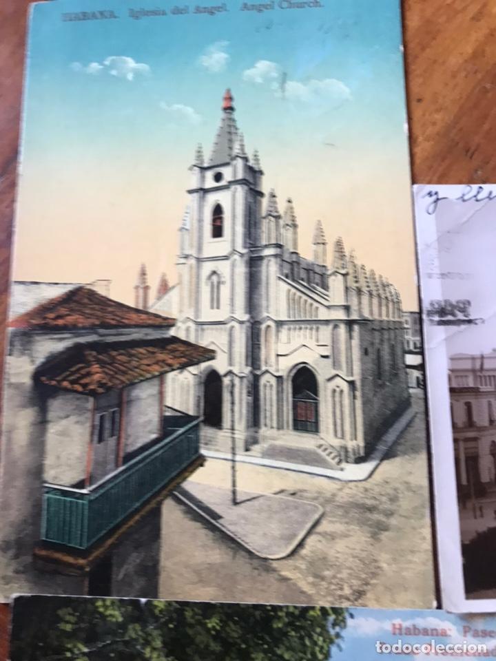 Postales: LOTE 3 POSTALES LA HABANA, CUBA. PASEO PRADO, IGLESIA ANGEL, PARQUE CENTRAL, CENTRO GALLEGO. - Foto 2 - 206956671
