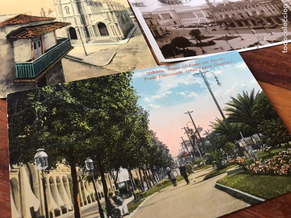 Postales: LOTE 3 POSTALES LA HABANA, CUBA. PASEO PRADO, IGLESIA ANGEL, PARQUE CENTRAL, CENTRO GALLEGO. - Foto 3 - 206956671