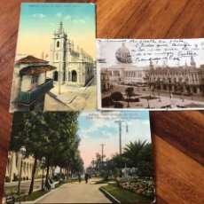 Postales: LOTE 3 POSTALES LA HABANA, CUBA. PASEO PRADO, IGLESIA ANGEL, PARQUE CENTRAL, CENTRO GALLEGO.. Lote 206956671