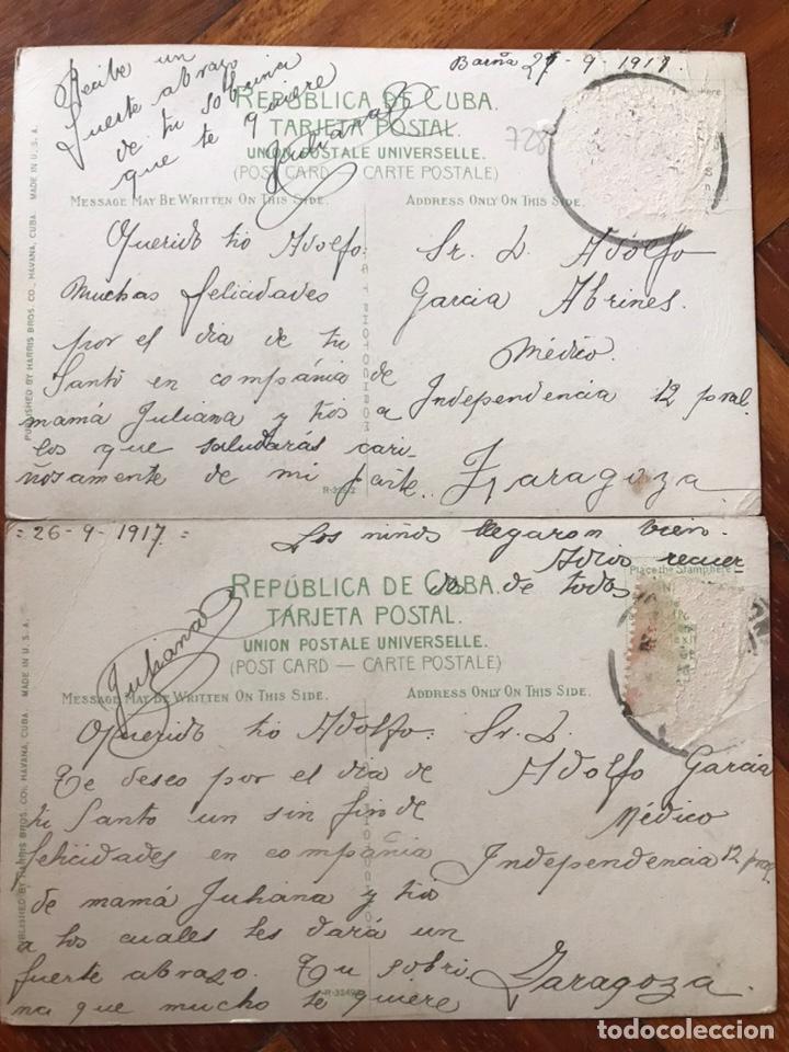 Postales: LOTE 2 POSTALES CUBA. ISLE OF PINES. CAIMANERA, GUANTÁNAMO. - Foto 4 - 206956856