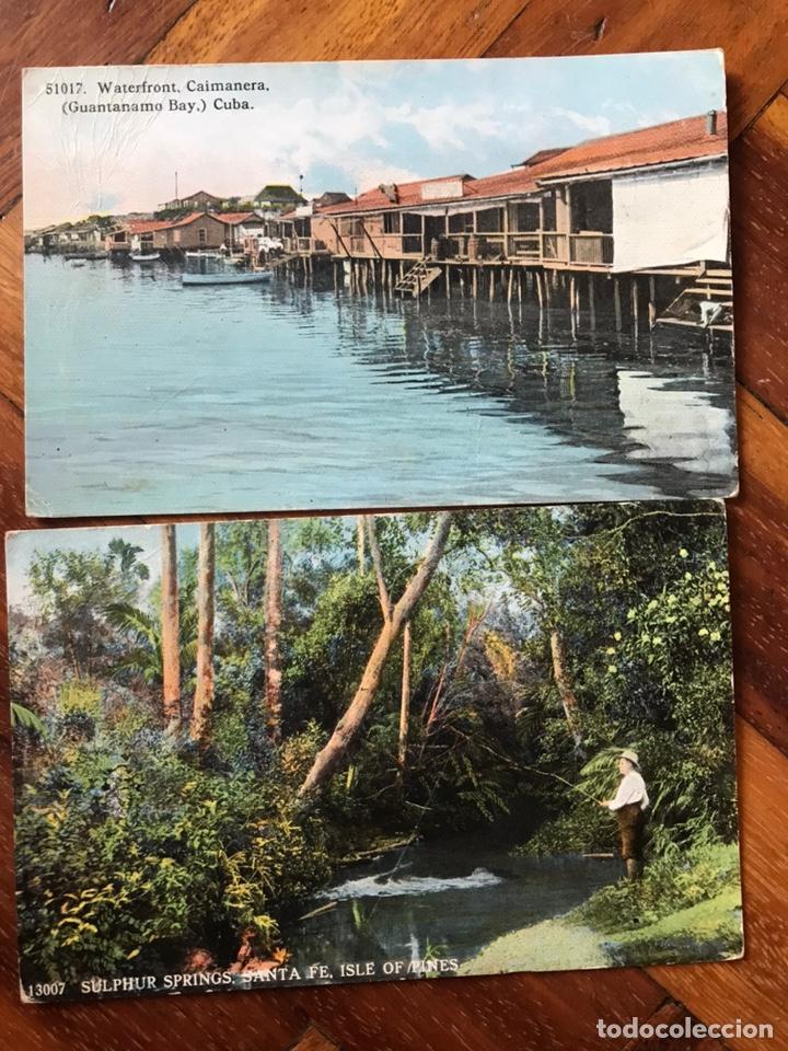 LOTE 2 POSTALES CUBA. ISLE OF PINES. CAIMANERA, GUANTÁNAMO. (Postales - Postales Extranjero - América)