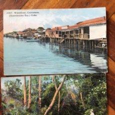 Postales: LOTE 2 POSTALES CUBA. ISLE OF PINES. CAIMANERA, GUANTÁNAMO.. Lote 206956856