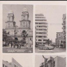 Cartes Postales: ECUADOR, GUAYAQUIL, CASA CALERO, TEMPLO, PALACIO COMUNICACIONES - CIRCULADA - 1955. Lote 206999495