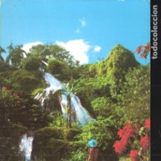 Postales: THE WATER FALL. SHAW PARK GARDENS. OCHO RIOS. JAMAICA. STAMP. SELLO.. Lote 207017246