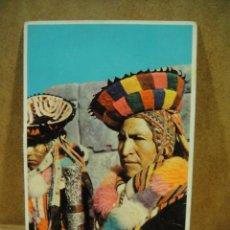 Postales: PERU , ALCALDE INDIGENA - FRANQUEADA 1963. Lote 207027647