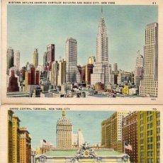 Postales: NEW YORK, 2 POSTALES ANTIGUAS. Lote 207087950