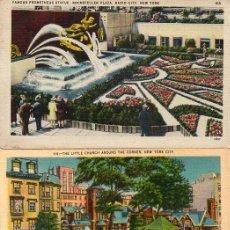 Postales: NEW YORK, 2 POSTALES ANTIGUAS. Lote 207088081