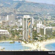 Postales: THE HILTON HAWAIIAN VILLAGE.WAIKIKI. HAWAII. USA. STAMP. SELLO.. Lote 207120270