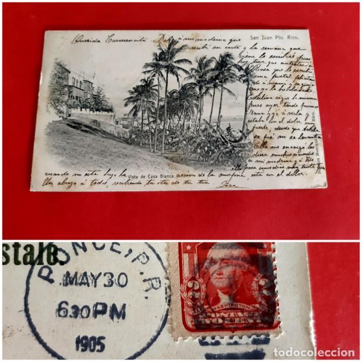 SAN JUAN DE PUERTO RICO-1905-CIRCULADA CON SELLO (Postales - Postales Extranjero - América)