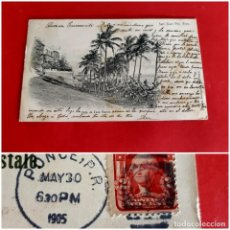 Postales: SAN JUAN DE PUERTO RICO-1905-CIRCULADA CON SELLO. Lote 210326840