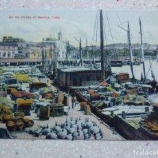 Postales: POSTAL CUBA - HABANA - EN EL MUELLE - ON THE DOCKS - DIAMOND NEWS. Lote 211423039
