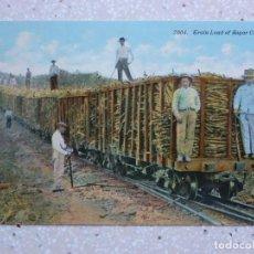Postales: POSTAL CUBA - TREN DE CARGA DE CAÑA DE AZÚCAR - TRAIN LOAD OF SUGAR CANE - HARRIS. Lote 211427100