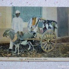 Postales: POSTAL CUBA - UN VENDEDOR AMBULANTE - A TRAVELING SALESMAN - HARRIS BROS - 1911. Lote 211428842