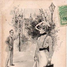 Postales: DELICADAS TARJETAS DE 1903, MONTEVIDEO. Lote 211692099