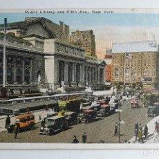 "Postales: NEW YORK. TARJETA POSTAL DE LA ""BIBLIOTECA PÚBLICA"", 5ª AVENIDA. IRVING UNDERHILL (HABERMAN) Nº 117.. Lote 211906166"