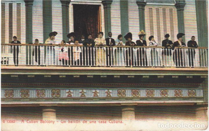 CUBA:HABANA.UN BALCÓN DE UNA CASA CUBANA.¡ OJO! ¡¡¡ BALCONYN !!!! (Postales - Postales Extranjero - América)