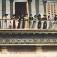 Postales: CUBA:HABANA.UN BALCÓN DE UNA CASA CUBANA.¡ OJO! ¡¡¡ BALCONYN !!!!. Lote 213267441
