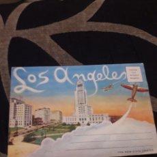 Postales: ANTIGUO ACORDEÓN CON 12 IMÁGENES DE LOS ÁNGELES. Lote 214278327
