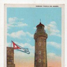 Postales: CUBA. LA HABANA. FAROLA DEL MORRO. FRANQUEADA EL 18 DE OCTUBRE DE 1951.. Lote 215870143