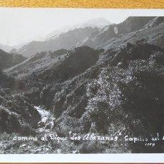 Postales: ARGENTINA, CAMINO DEL DIQUE, CAPILLA DEL MONTE, CORDOBA, SIN EDITORIAL 1963. Lote 217807778