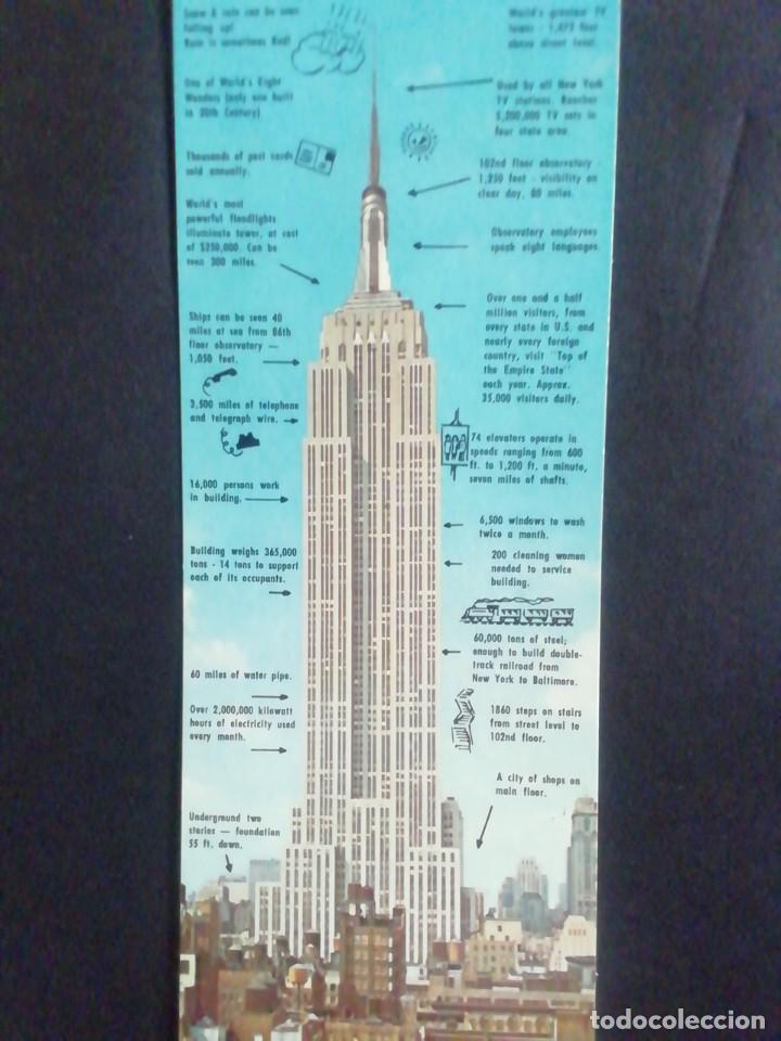 POSTAL EMPIRE STATE. NEW YORK 1964. EXPLICANDO LAS CARACTERÍSTICAS DEL EDIFICIO (Postales - Postales Extranjero - América)