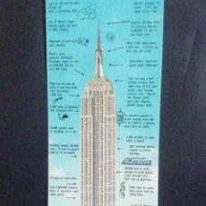 Postales: POSTAL EMPIRE STATE. NEW YORK 1964. EXPLICANDO LAS CARACTERÍSTICAS DEL EDIFICIO. Lote 218622057
