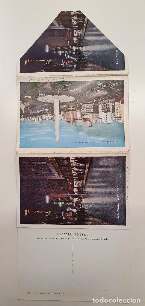 Postales: Tira con 10 postales Buenos Aires años 60. color - Foto 2 - 219102235