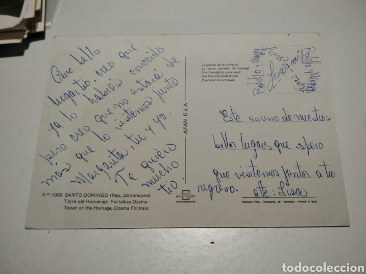 Postales: Postal Santo Domingo Fortaleza - Foto 2 - 219112891