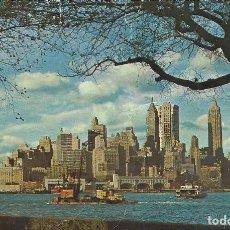 Postales: USA. LOWER MANHATTAN FROM GOVERNORS ISLAND. NEW YORK CITY. BUEN ESTADO. AÑOS 1960-1970. 10X15 CM.. Lote 220517263