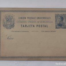 Postales: ANTIGUA TARJETA POSTAL ESTADOS UNIDOS DE VENEZUELA, 10 CÉNTIMOS. FINALES S XIX.. Lote 220841207