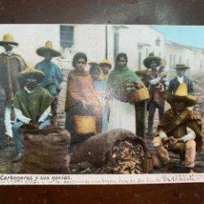 Postales: 1909. MÉXICO. CARBONEROS Y SUS NOVIAS.. Lote 220875365
