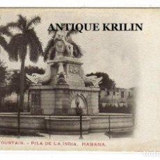 Postales: CUBA / LA HABANA .- INDIAN FOUNTAIN / PILA DE LA INDIA .- EDICION CUBAN CARD Nº 26. Lote 221273668