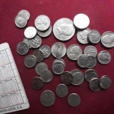 Postales: ESTADOS UNIDOS. 35 MONEDAS DE 10 CENTS, 5 CENTS Y UNA DE HALF DOLLAR. Lote 221701736