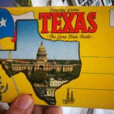 Postales: BLOC CON 12 VISTAS TEXAS THE LÍNEA STAR STATE. Lote 221799845
