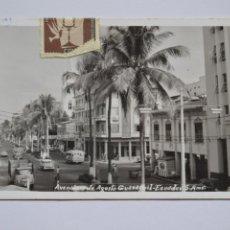 Postales: POSTAL. AVENIDA DE AGOSTO GUAYAQUIL. ECUADOR. CIRCULADA EN 1965.. Lote 221888448