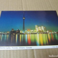 Postales: SKYLINE AT NIGHT-TORONTO-ONTARIO-CANADA-PHOTO MARTY SHEFFER-ESCRITA EN 1977. Lote 222089215