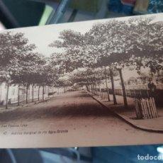 Postales: ANTIGUA POSTAL AVENIDA MARGINAL DO RIO AGUA GRANDE SANTO TOME. Lote 222192815