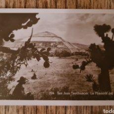 Postales: POSTAL 224 SAN JUAN TEOTIHUACAN - LA PIRAMIDE DEL SOL - BREHMEN. Lote 222262161