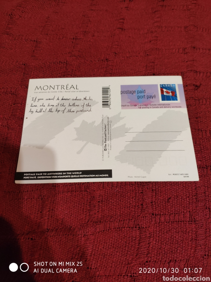 Postales: POSTAL MONTREAL (CANADÁ) - Foto 2 - 222721863