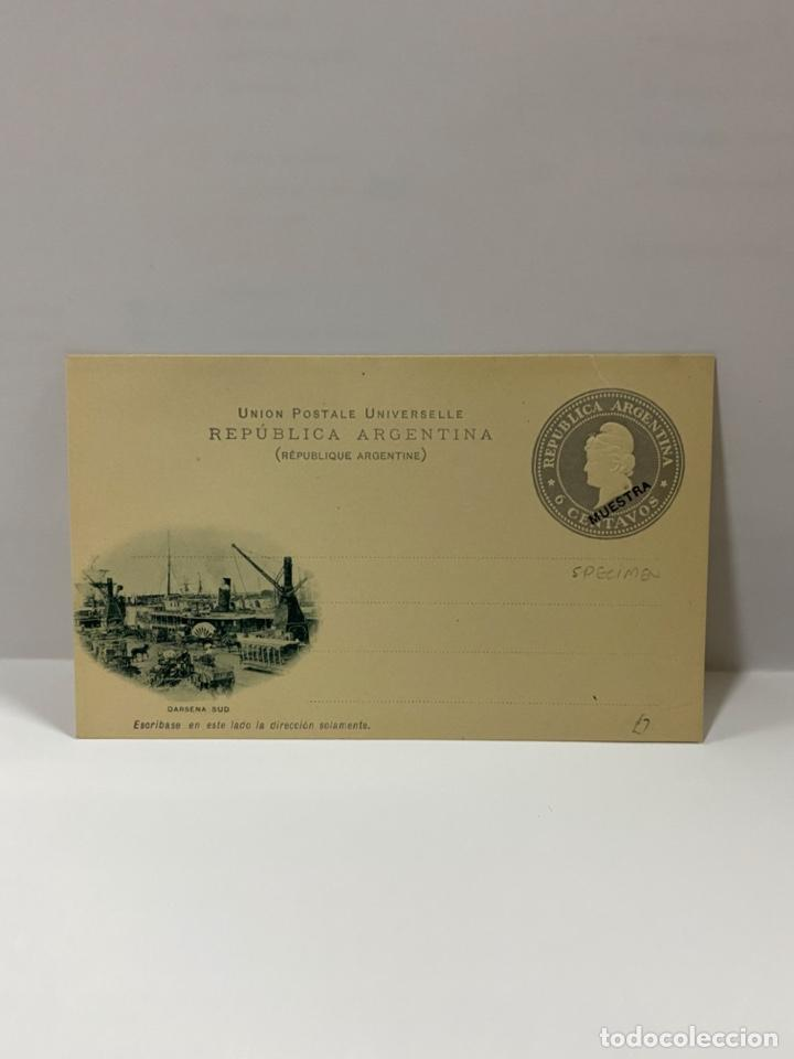 TARJETA POSTAL. REPUBLICA ARGENTINA. DARSENA SUD. VER (Postales - Postales Extranjero - América)
