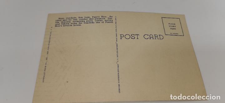 Postales: Hotel Condado San Juan, Puerto Rico Original Vintage Postcard sin circular - Foto 2 - 224741205