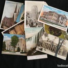 Postales: LOTE 35 POSTALES ANTIGUAS DE ESTADOS UNIDOS (U.S.A.). Lote 225091465